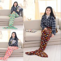 Wholesale Adult children nap coral fleece blanket Mermaid flannel air cushion pillow sofa blanket blanket lovely butterfly