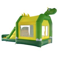 Wholesale New Design Dinosaur Bounce House for Kids with Slide Inflatable Bouncers Outdoor Trampoline