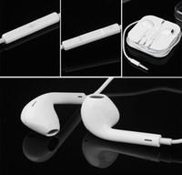 Wholesale Best quality Apple Headphone iPhone6 s G Earbuds Original Headset iphone s G ipad Earphone mm Handsfree with Mic Earphones