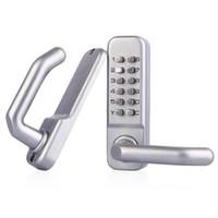 digital door lock - Waterproof Lever Handle Mechanical Combination Lockey Digital Numberal Deadbolt Door Coded Lock