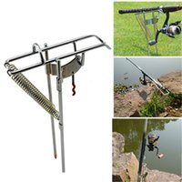 Wholesale Adjustable Steel Double Spring Fishing Rod Pole Rack Holder Bracket Tackle Stand Automatic Tip Up Hook Setter