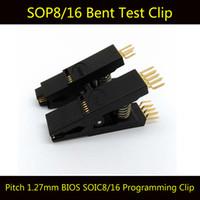 bending test - 2PCS BIOS SOP8 SOP16 Original Bent Test Clip Pin Pitch mm SOIC Universal Body Programming Clip Adapter