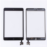 Wholesale 100 New Touch Screen Glass Panel with Digitizer with ic Connector Buttons for iPad Mini