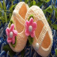 venda por atacado booties crochet do bebê-Hot Crochet Baby Booties Newborn Crochet Sapatos Crochet Booties Crochet Sapatos de bebê, Baby Slippers Baby Shoes, Botas para bebês 10paris / lot