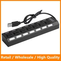 accessory power switch - High Speed Black White Ports LED USB Adapter Hub Power ON OFF Switch USB Cable Computer Accessories for PC Laptop