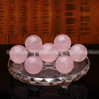 ball array - Feng Shui pink crystal balls Seven Star Array Exorcise Statue With Shelf F482