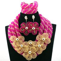 artificial jewellery - Latest on Sale African Beads African Jewelry Sets for Lady Bracelet for Bridal Wedding Occassion Artificial jewellery
