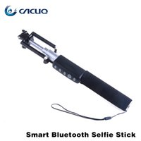 Wholesale Smart Blooth Mini Selfie Stick Monopod Portable Extendable Monopod Self Foldable Cable Selfie Stick Mini Selfie Stick