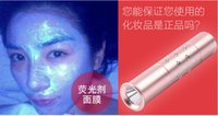 Cheap Professional Fluorescent agent detection LED Flashlight Torch Lamp WHITE Violet light UV 365nm 395NM With 14500 battery retail pack AA+