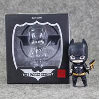 batman collectables - 8 cm Super Hero Batman Q version PVC Action Figure Collectable Model toy for kids Christmas gift retail
