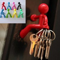 Wholesale 8 color Hot Key Pete Magnet Hanging Hook Key Holder Magnetic Climbing Wall man Key Seat Key hook cm PPA127