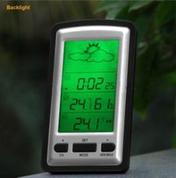 Wholesale Indoor Outdoor Wireless Weather Station Digital Thermometer Temperature Sensor M Clock Humidity C F RH Backlight Display