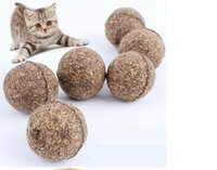 Wholesale Pet Toys Ball Edible Catnip Tasty Safe for Pet Dog Cat Teaser Chasing Chewing Treating Toys Pet New Funny