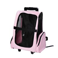 rolling bag - Travel Pet Carrier OxFord Dog Puppy Trolley Luggage Bag Rolling Back Pack