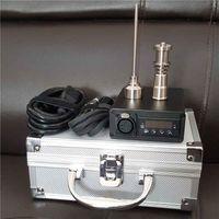 Wholesale Portable Enail Mini E Nail Kit Digital Electric Dab Temperature Control Box mm Coil Heater Titanium Quartz Hybrid Wax Vaporizer Dry Herbal