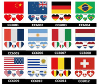 Wholesale Country Flag Stickers Tattoos Rio Brasil Olympic Tattoos Stickers cm waterproof body stickers USA Germany Australia UK Italy France