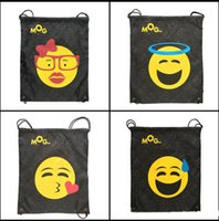bg travel - Ins Emoji Drt ng Bag Gym Sm Shoe Bag E moji Poh Handbag Travel Storage Bag Beach Bag Underwear Waing Bg Portable Sng Bag