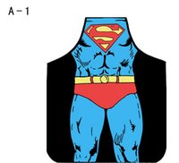batman cooking apron - 50PC superhero apron superman batman Kitchen aprons spiderman flash hulk apron Funny Cooking Anime Cartoon Aprons party gifts
