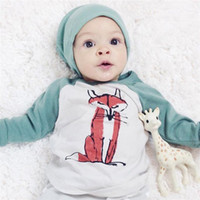 Wholesale INS bobo choses Boys Baby Childrens Clothing tshirts Cartoon Fox T shirts Kids Clothes Tshirts Pajamas Enfant Clothing