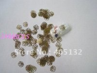 Wholesale MS Metal Gold Rose Flower Nail Art Metal Sticker Nail Art Decoration Fancy Outlooking