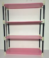 Wholesale 2016 Hot Selling Living Room Bathroom Storage Rack Stand Storage Rack Storage Holders Racks Layers Pink