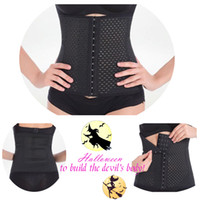 Cheap S-XXXL Women Latex Rubber Waist Trainers Waist Training Belt Kim Waist Training Belt Underbust Corset Body Shaper Shapewear Waist Cinchers