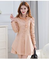 Wholesale New winter han edition tailored collar fashion cultivate one s morality in the single breasted long sleeved long coat
