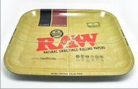 Wholesale RAW iron plate storage tray Cigarette essential accessories RAW rolling trays cm cm for RAW Rolling Paper sale