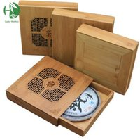 bamboo food tray - Quality Puer tea box gift packaging Handmade pu er tea set health care bamboo tray wooden storage boxes