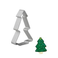 aluminium cutter tool - Christmas Tree Shaped Aluminium Mold Buscuit Tools Cookie Cake Mold Jelly Pastry Baking Cutter Mould Tool