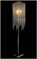 Wholesale Modern Popular Crystal Floor Lamp Chrome Floor Stand lighting Meerosee stand lighting FL10008