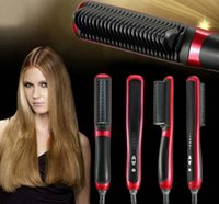 Wholesale ASL Fast Brush Hair Straightener Comb Professional Straightening Irons cepillo alisador de pelo Brosse Lisseur Cheveux