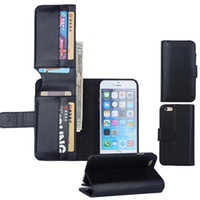 apple purse - Card Slot Wallet case PU Leather Flip Cover Cash Purse Stand for iphone se s S Plus s samsung s7 s6 edge plus note5