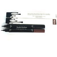 Wholesale kylie double eyeliner Makeup Black and brown Waterproof Eyeliner Liquid Eyeliner Pen Pencil Cosmetic Long LASTING Eyeliner