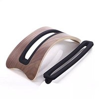 Wholesale Wooden Desk Holder Stand Display for Macbook Air Macbook Pro Walnut