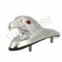 Wholesale Motorcycle Bike Front Fender Mudguard Ornament Eagle Head Statue Fender Bonnet Emblem Motorbike ATV Dirt Bike Universal
