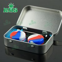 boxes for spices - Reusable Silicone Kit Set With ml dab Silicone Containers wax Titanium Dabber Tool For Wax Dabs jars Stainless in small tin box