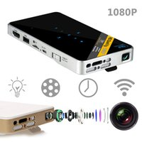 android pocket projector - Portable Intelligent Projector DHL Free Mini Pocket Projector P1 HD P Home Cinema D Video WIFI Connect Support IOS Android Windows