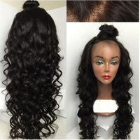 baby buns - High Bun Unprocessed virgin high ponytail full lace wig Peruvian glueless full lace curly human hair wigs lace front wigs with baby hair