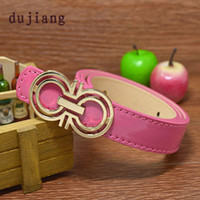Wholesale Hot sale new arrival letter designer children s belt PU leather kids belt for children boys girls