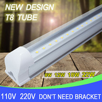 Wholesale led tube lights ft T8 Integrated W mm v v v Transparent Clear Cover Milky Cover ft White Warm White SMD2835