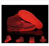 Wholesale Kanye West II Glow In Dark Red October Men s Basketball Sport Footwear Trainers Shoes size eur