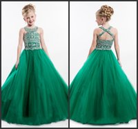 beautiful dresses for teens - Beautiful Show Crystals Prom Dress Long Backless Pearls Pageant Gowns For Teens Pageant Gowns Kids