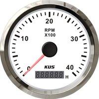 Wholesale 85mm White KUS Tachometer rpm for gasoline engine CMHB WS KL SV KY07105