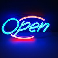 Wholesale CE ROHS Battery Powered Neon Sign Led Neon Light OPEN Sign Custom LED Neon Sign Restaurant Hotel Sign