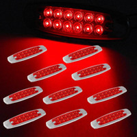 Wholesale 10x quot LED Marker Clearance Light LED Pigtail Connector Red Trailer Lights