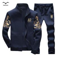 Wholesale High Quality Spring Men s Suits Casual Slim Youths Mens Tracksuit Set Solid Men Tracksuit Pants Size M XL
