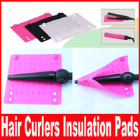 Wholesale Silicone Insulation non slip Storage Mat Silicone Insulor Straight hair curlers Hair straightening Accessories Insulation pads size cm