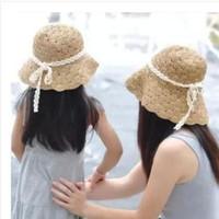 autumn hat craft - Dresses Parent child Loaded Beach Brim Hats Women Stram Hats Girls Sun Hats Hand Weaving Craft Foldable Sunscreen Hats High Quality