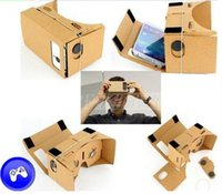 Wholesale DIY Google Cardboard Mobile Phone Virtual Reality D Glasses Unofficial Cardboard Google Cardboard VR Toolkit D Glasses CCA1785 Free Ship